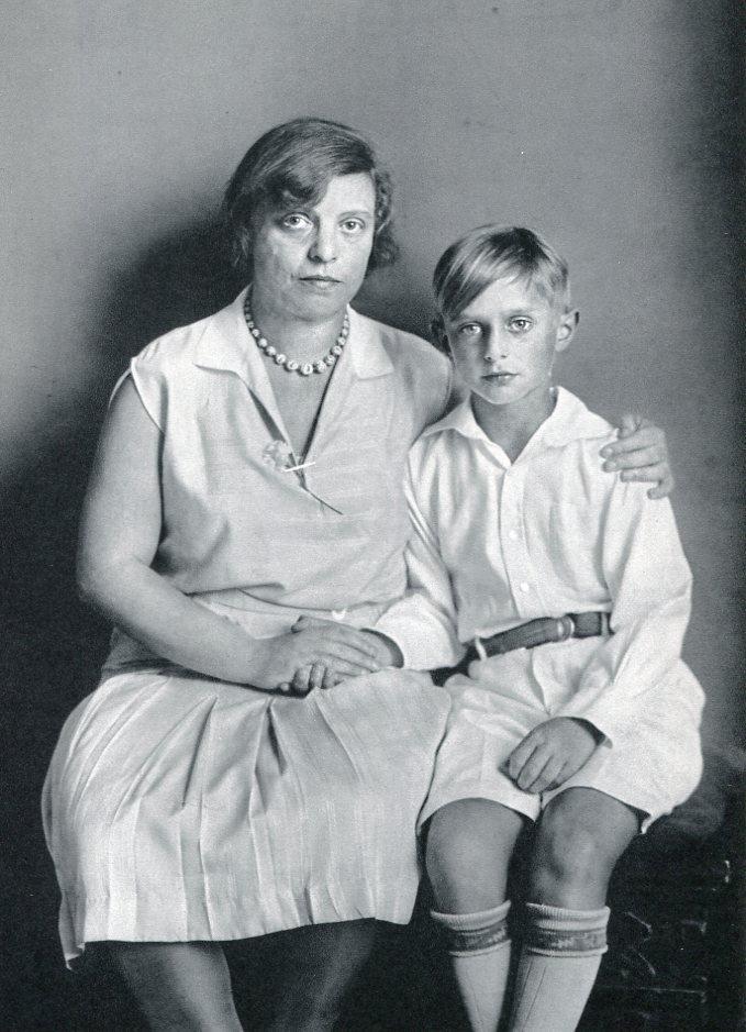 August Sander - Artist Max Ernst's Wife and Son