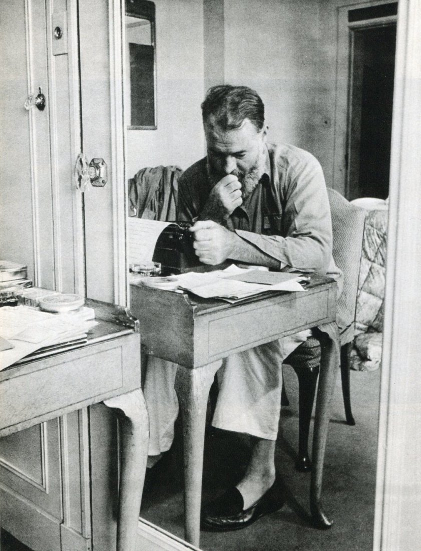 Kurt Hutton - Ernest Hemingway 1944 - Gravure