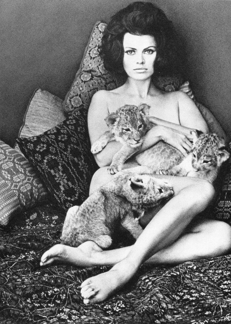 (Nude) Wingate Paine - Tigress & cubs - Gravure