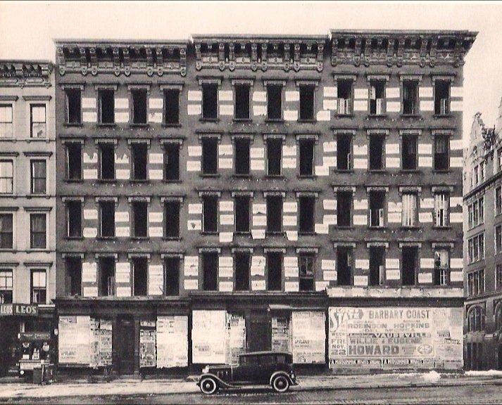 Abbott, Berenice - Building w/Father Coughlin Handbills