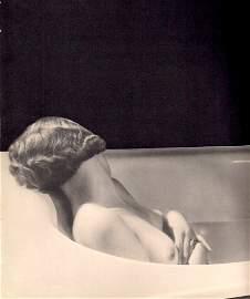 """Krull, Germaine (attr) - """"Nude in tub"""""""