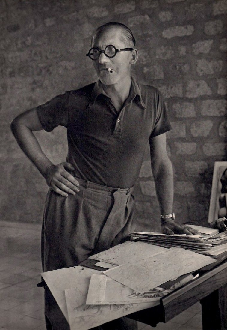 Andre, Rogi - Portrait de  Le Corbusier