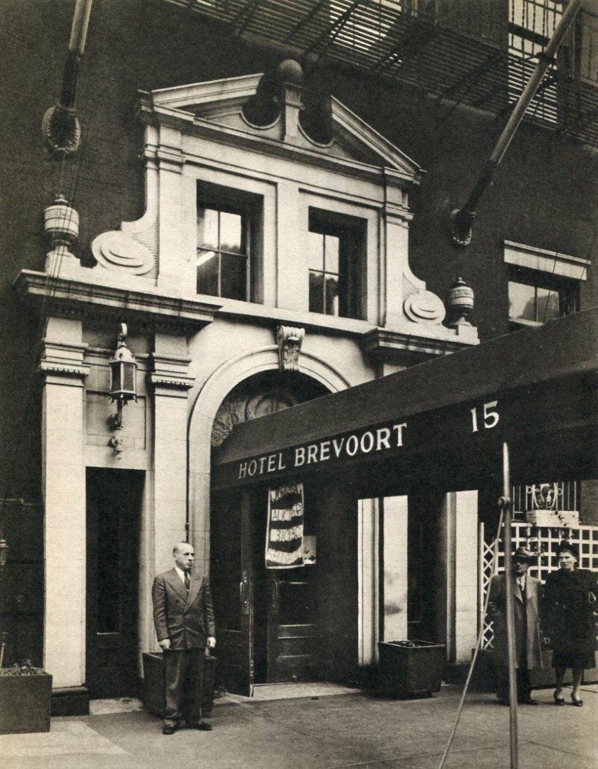 Abbot, Bernice - Hotel Brevoort, NYC