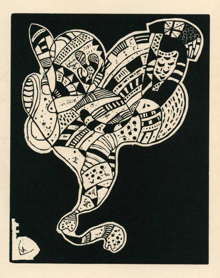 Kandinsky, Wassily  - 10 Origin - Woodcut