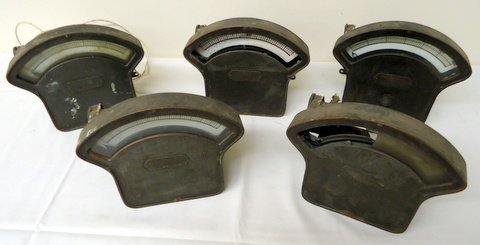 Lot of 5 Early Meters (Electric)