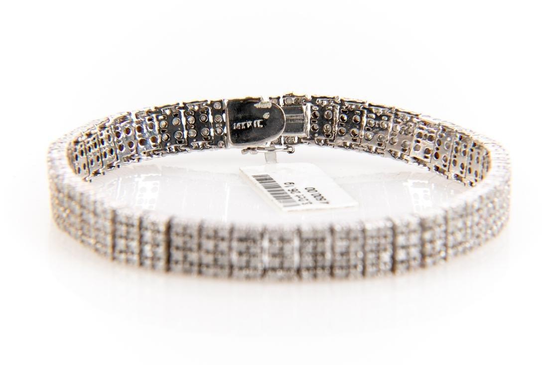 5CT Quadruple Row Diamond Tennis Bracelet Set In 14K - 4