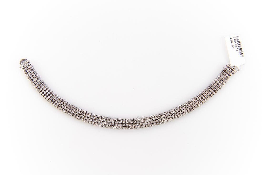 5CT Quadruple Row Diamond Tennis Bracelet Set In 14K - 9