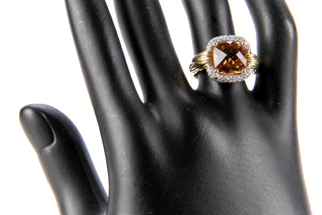 18K Gold, Citrine And Diamond Ring, By Spark - 8