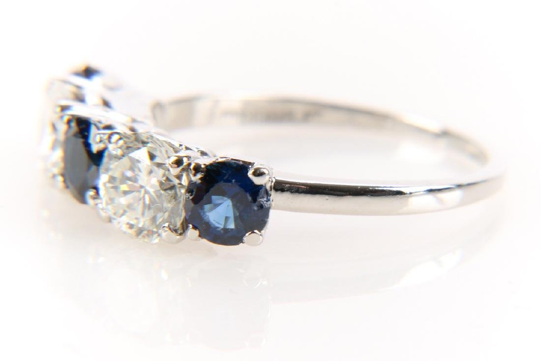 Platinum, Sapphire And Diamond Ring - 2