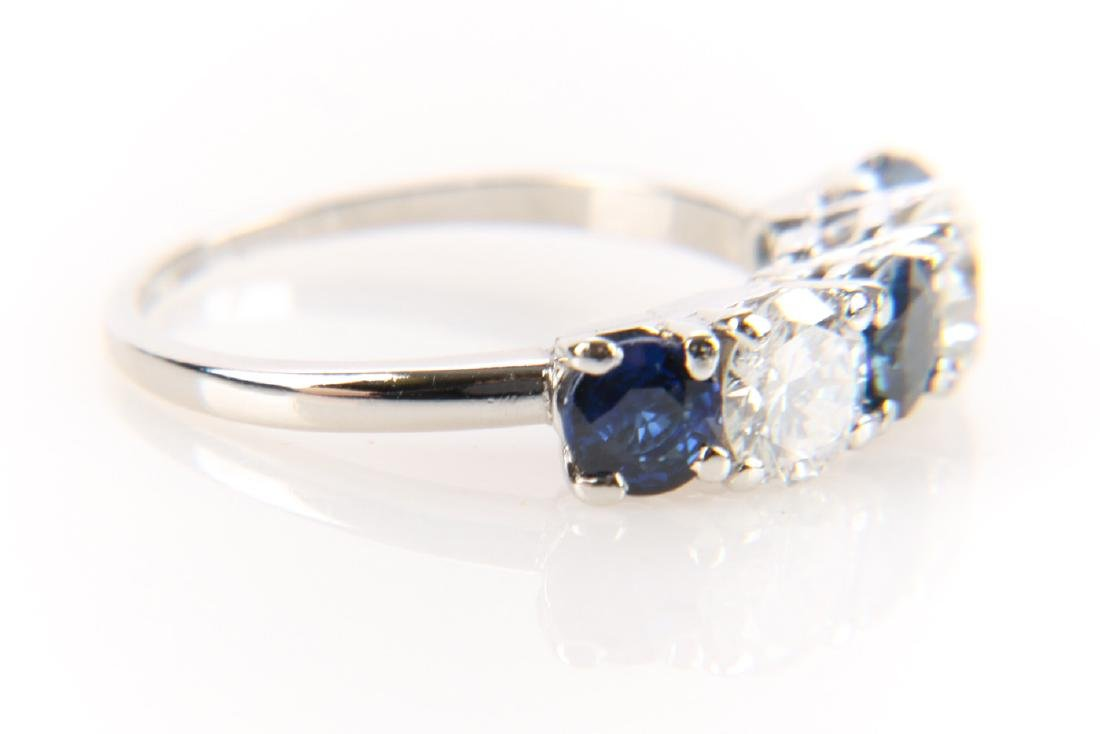 Platinum, Sapphire And Diamond Ring - 3