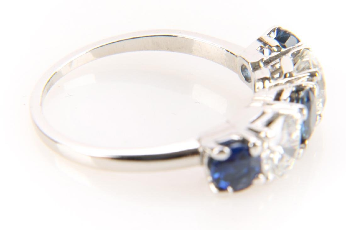 Platinum, Sapphire And Diamond Ring - 5