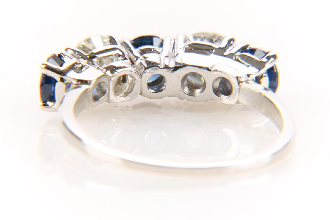 Platinum, Sapphire And Diamond Ring - 7