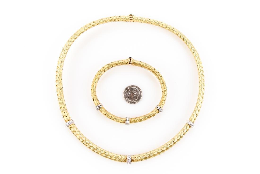 18K Gold, Diamond Necklace & Bracelet, By Roberto Coin - 2