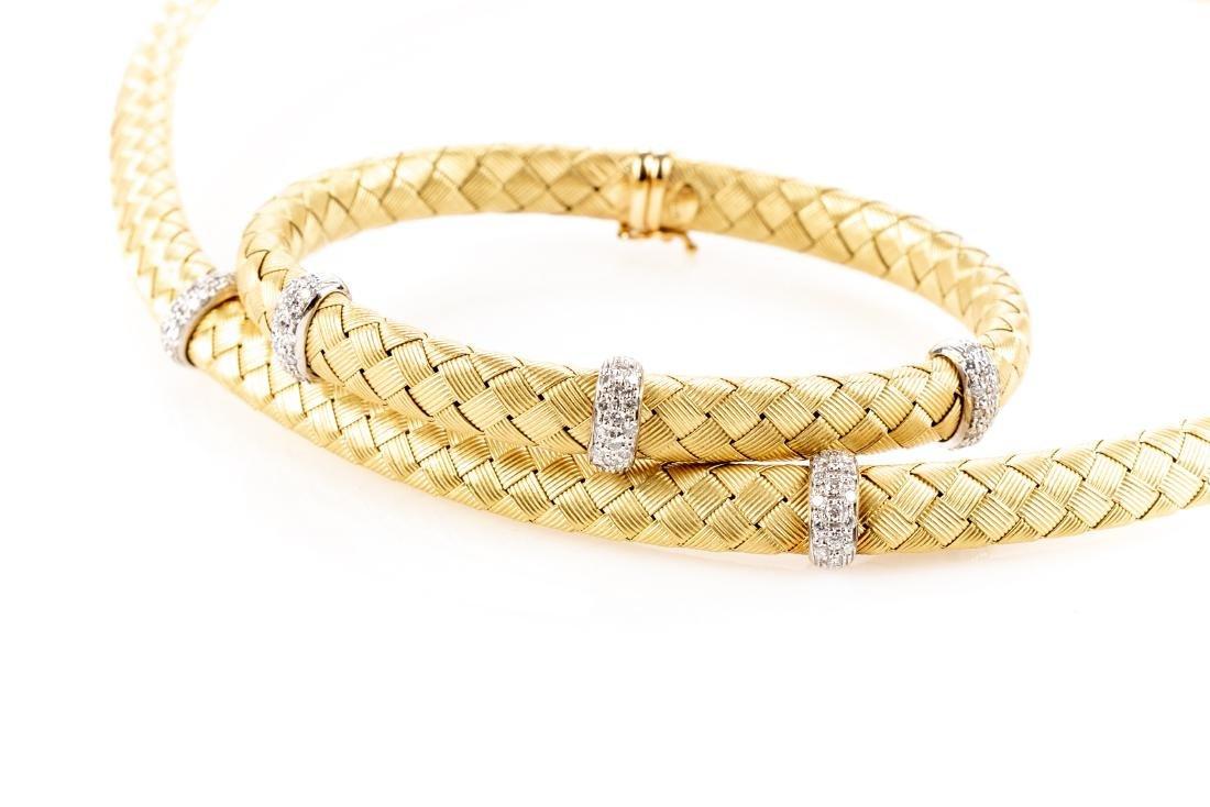 18K Gold, Diamond Necklace & Bracelet, By Roberto Coin - 3