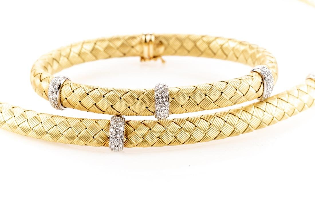 18K Gold, Diamond Necklace & Bracelet, By Roberto Coin - 6