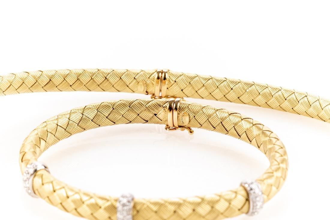 18K Gold, Diamond Necklace & Bracelet, By Roberto Coin - 7