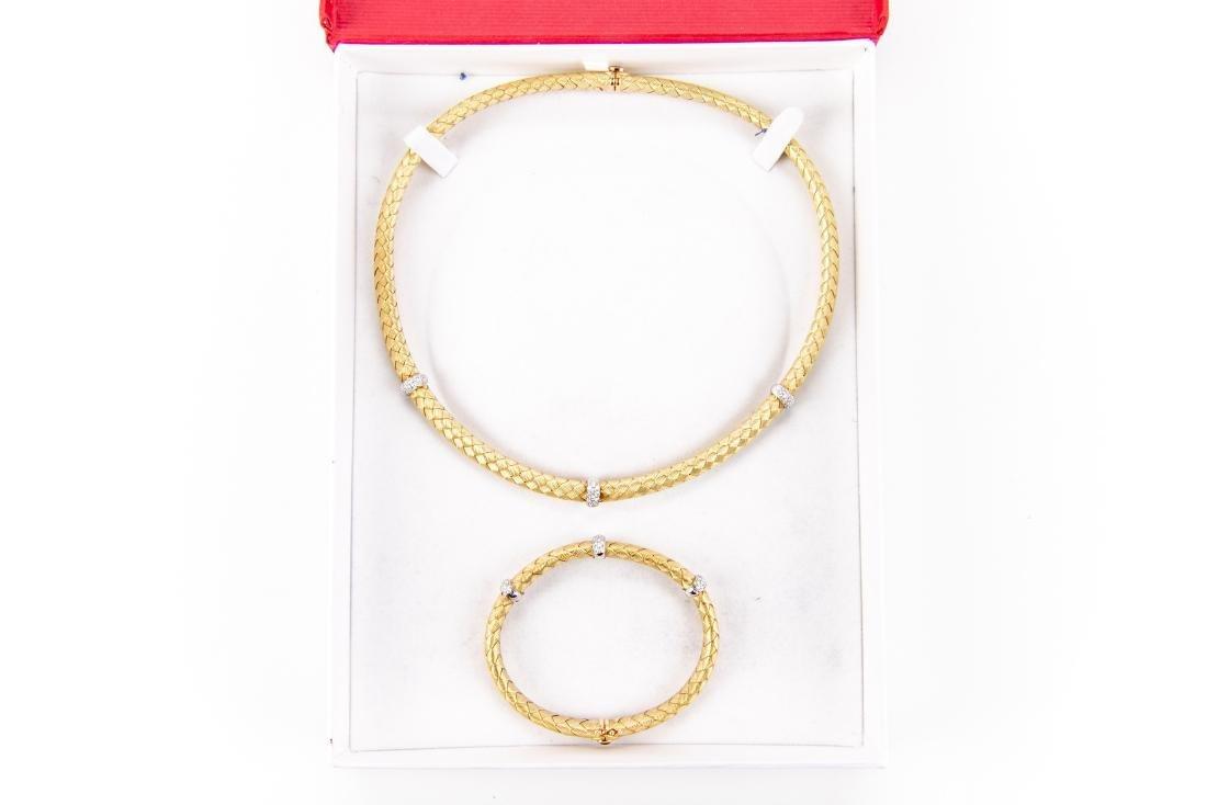 18K Gold, Diamond Necklace & Bracelet, By Roberto Coin - 8