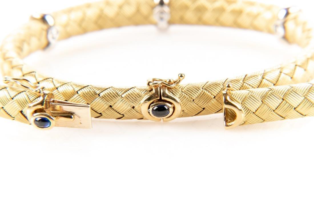 18K Gold, Diamond Necklace & Bracelet, By Roberto Coin - 9
