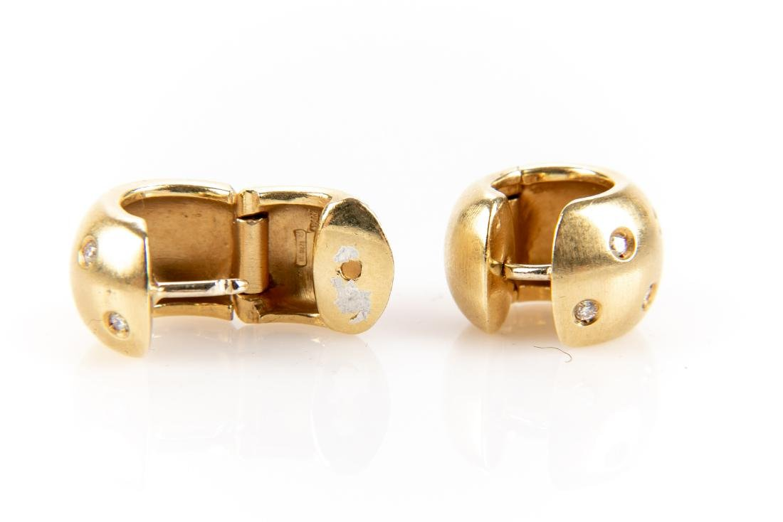18K Gold And Diamond Earrings - 2
