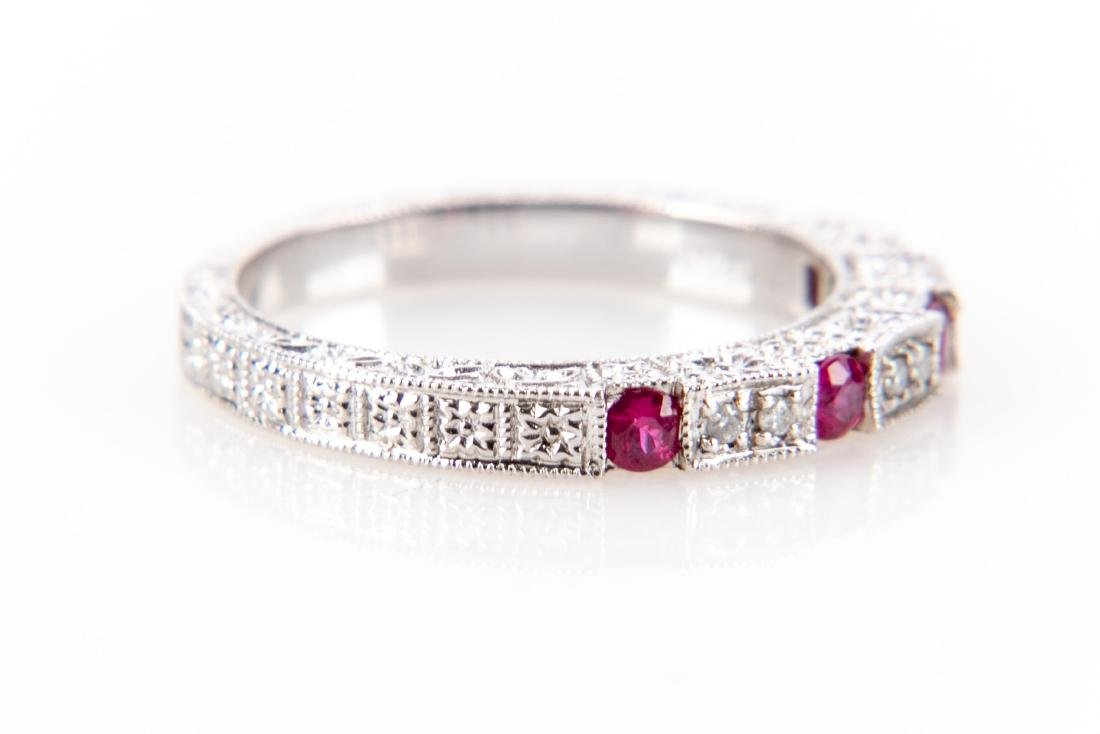 18K Gold, Ruby And Diamond RIng - 3