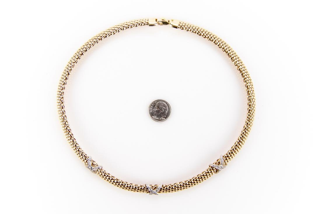 14K Gold And Diamond Collar Necklace - 2