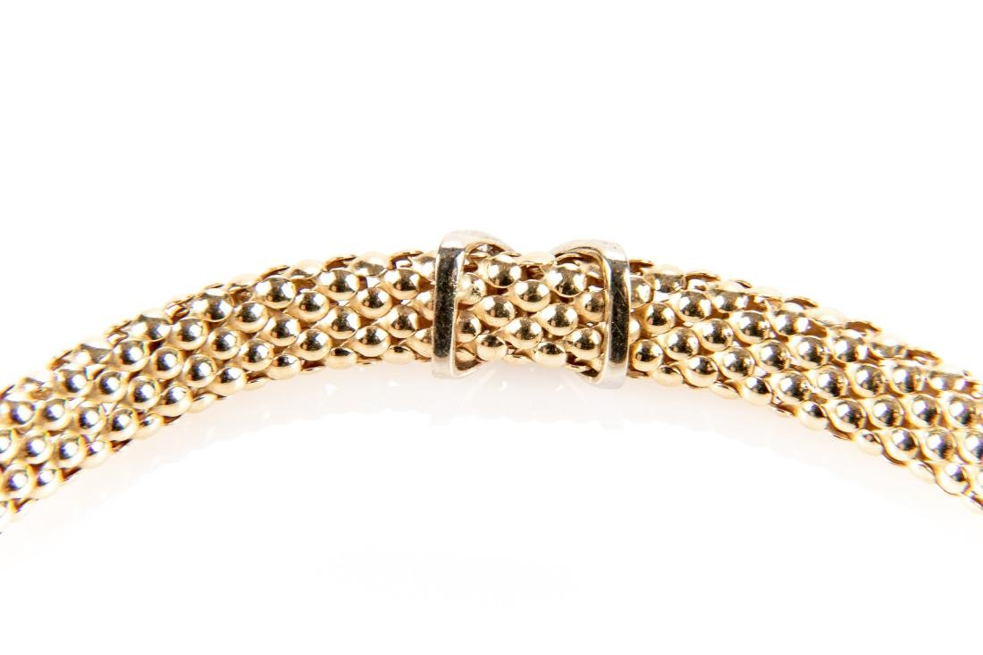 14K Gold And Diamond Collar Necklace - 4