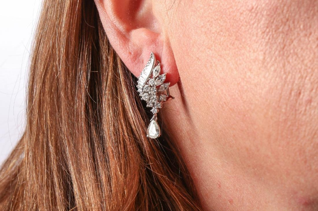 Platinum And Diamond Earrings With Appraisal, 4.92 TCW - 10