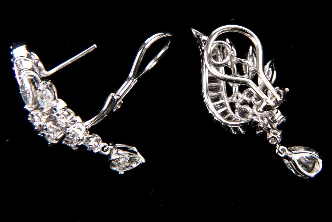 Platinum And Diamond Earrings With Appraisal, 4.92 TCW - 2