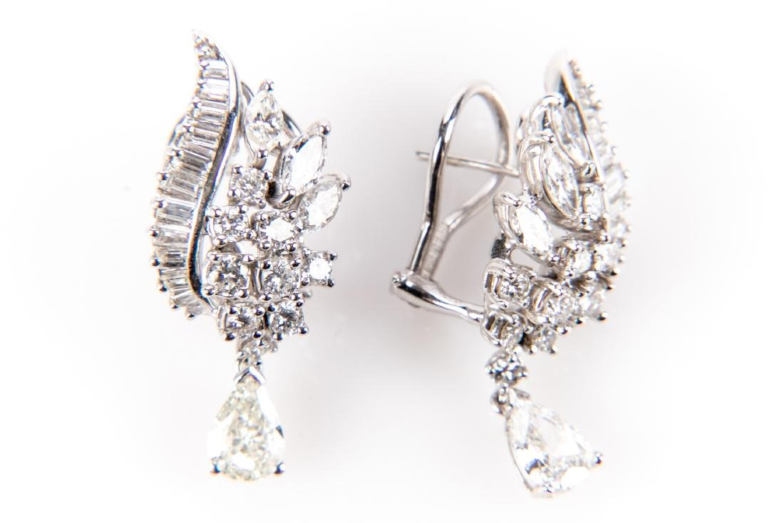 Platinum And Diamond Earrings With Appraisal, 4.92 TCW - 8