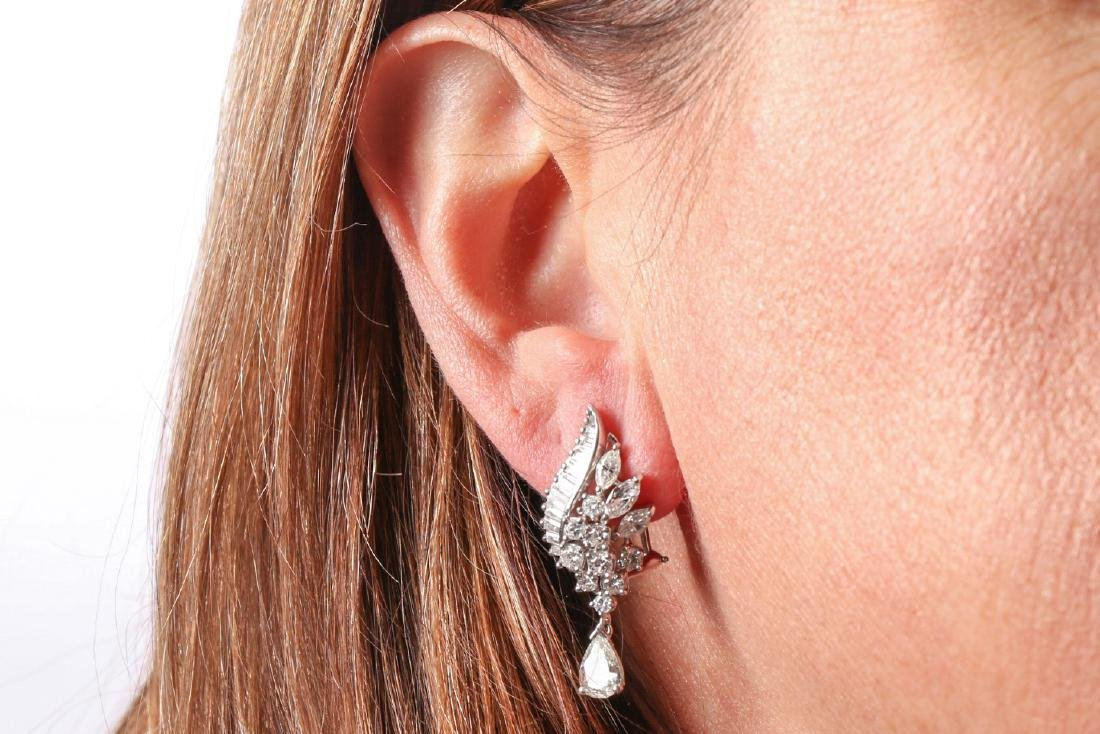 Platinum And Diamond Earrings With Appraisal, 4.92 TCW - 9