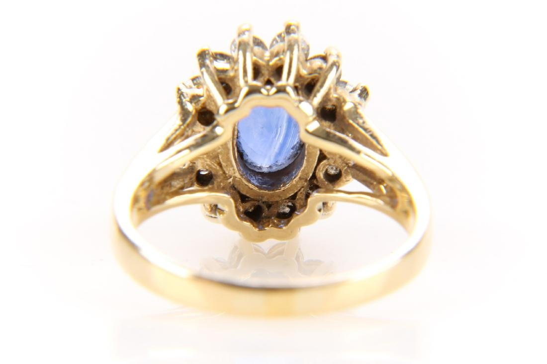 14K Gold, Sapphire And Diamond Ring - 7