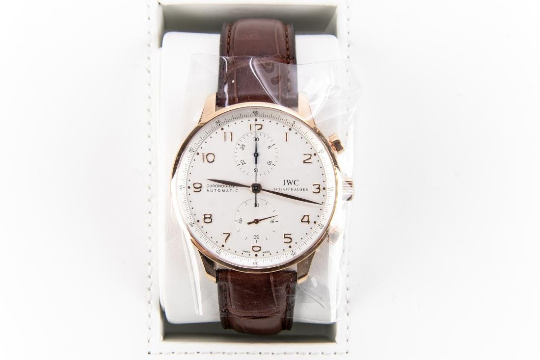 International Watch Co. 18K Rose Gold Watch With Case