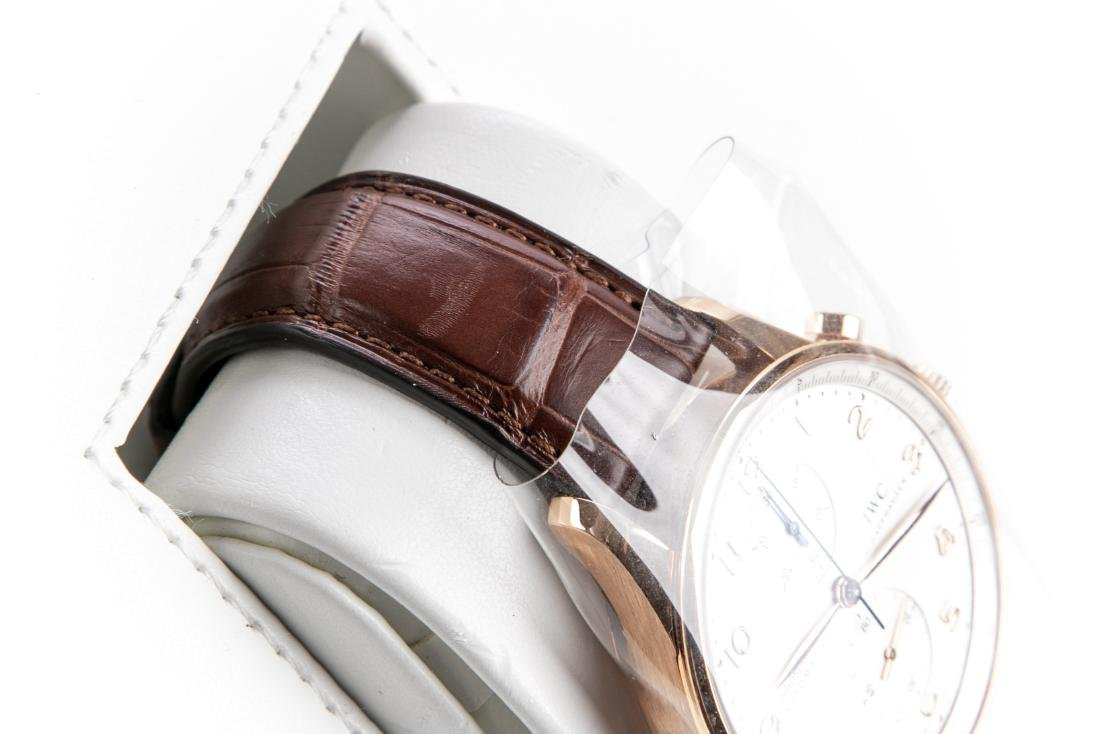 International Watch Co. 18K Rose Gold Watch With Case - 5