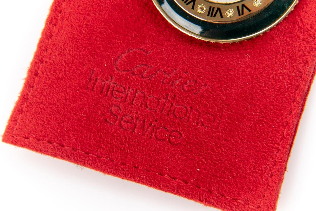 18K Gold, Bloodstone And Ruby Pocket Watch, By Cartier - 2