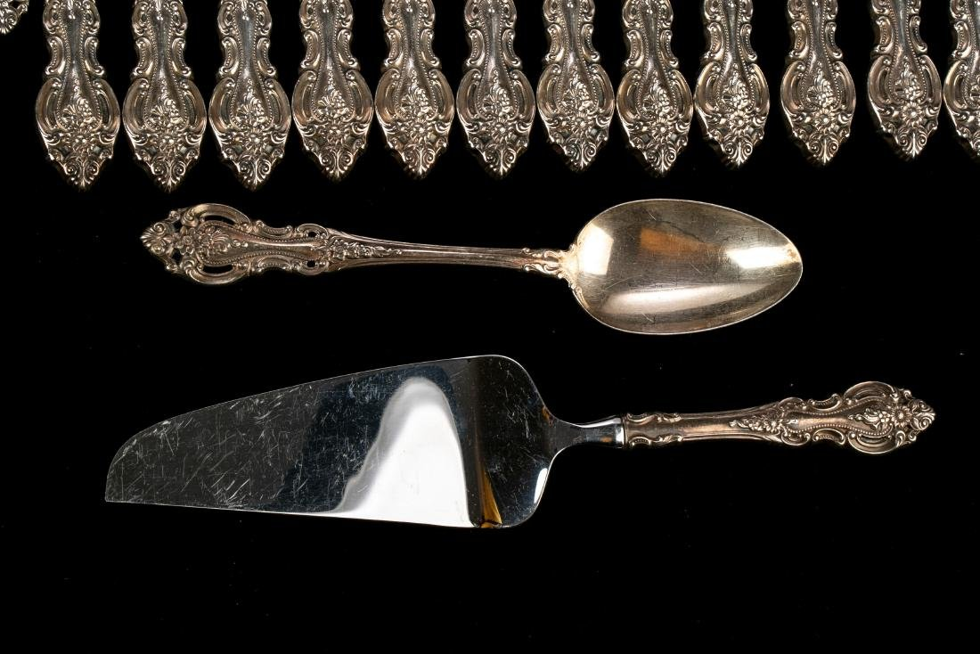 """Wallace Sterling Silver """"Grand Victorian"""" Flatware Set - 5"""