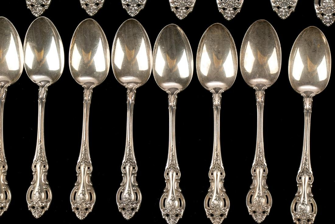 """Wallace Sterling Silver """"Grand Victorian"""" Flatware Set - 6"""
