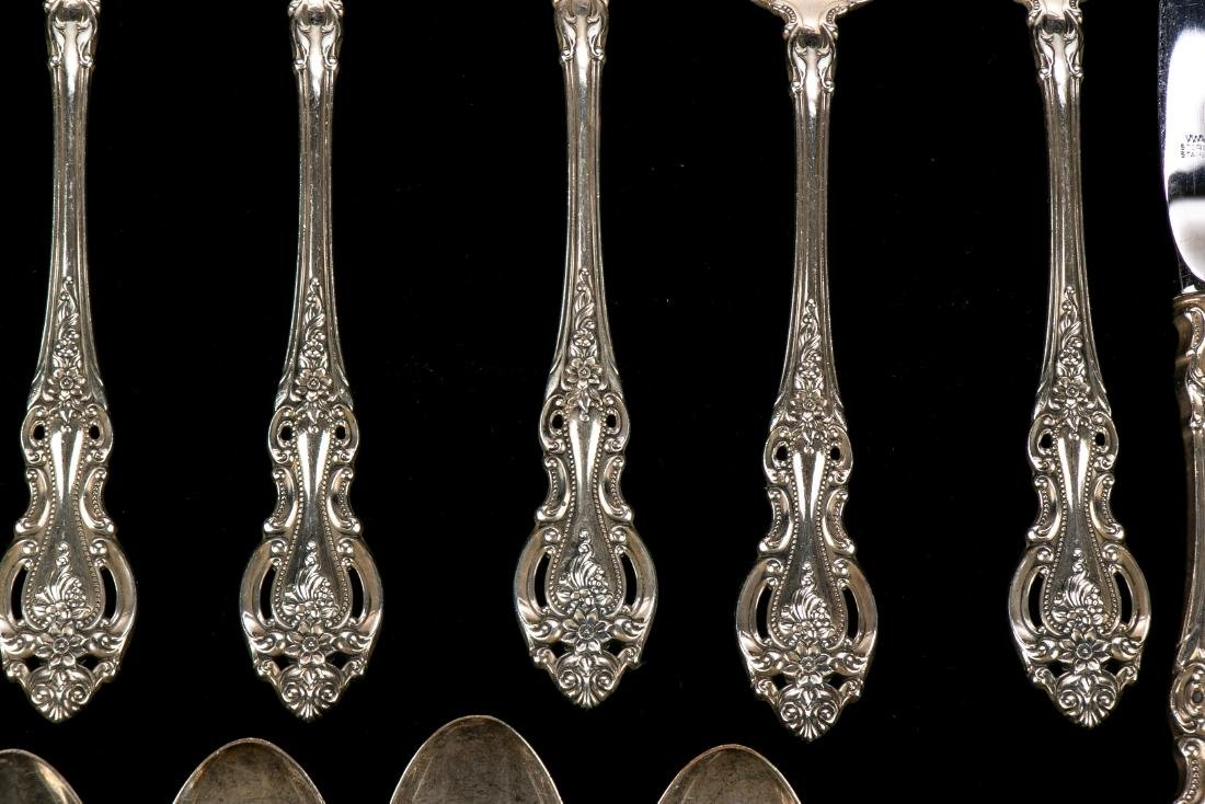 """Wallace Sterling Silver """"Grand Victorian"""" Flatware Set - 8"""