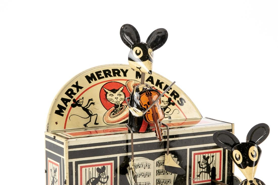 Marx Merrymakers Tin Windup Toy Dancing Mice - 5