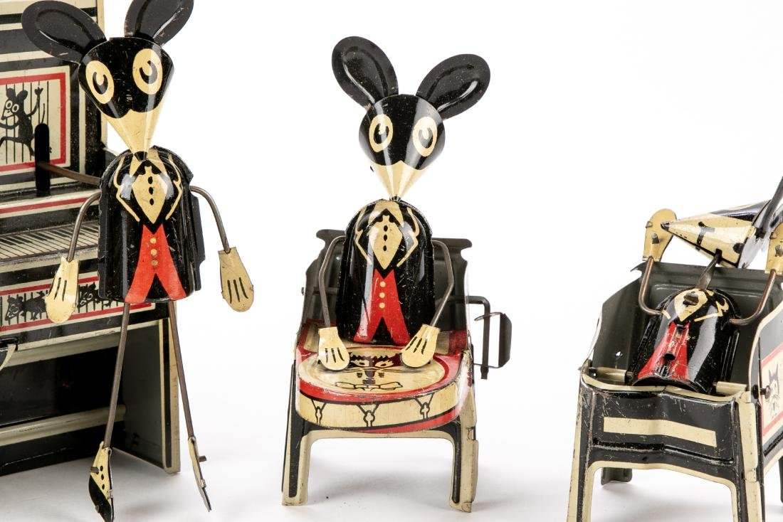 Marx Merrymakers Tin Windup Toy Dancing Mice - 7