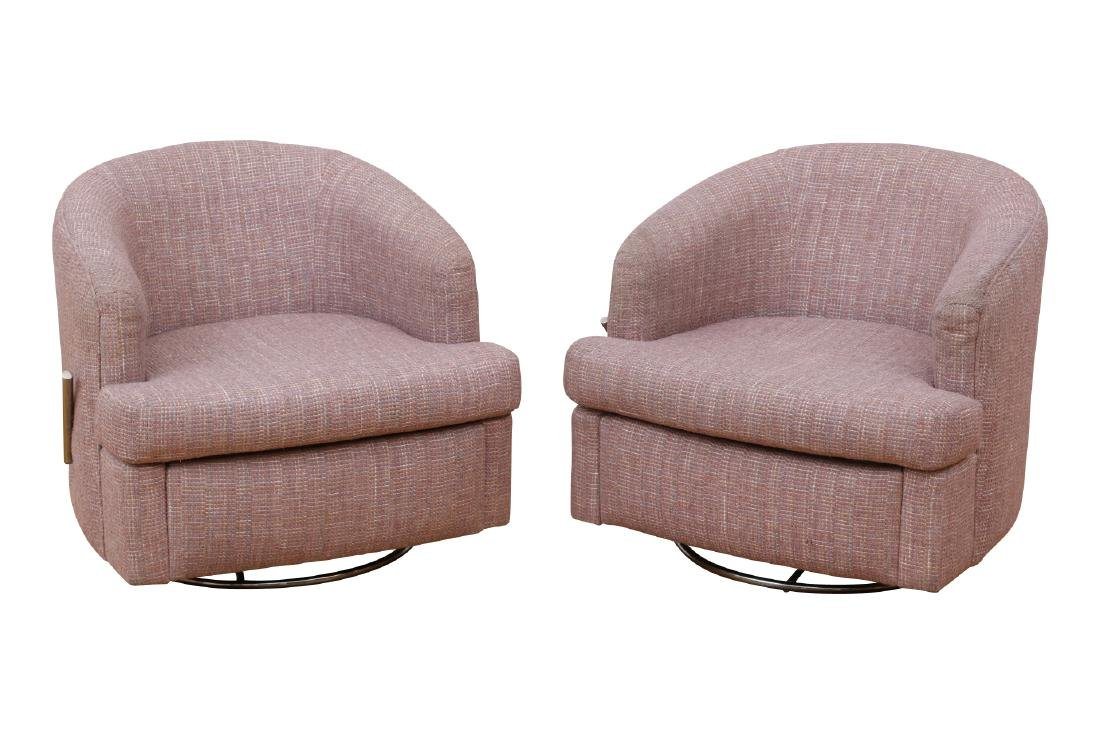 Pair Of Thayer Coggin Club Chairs