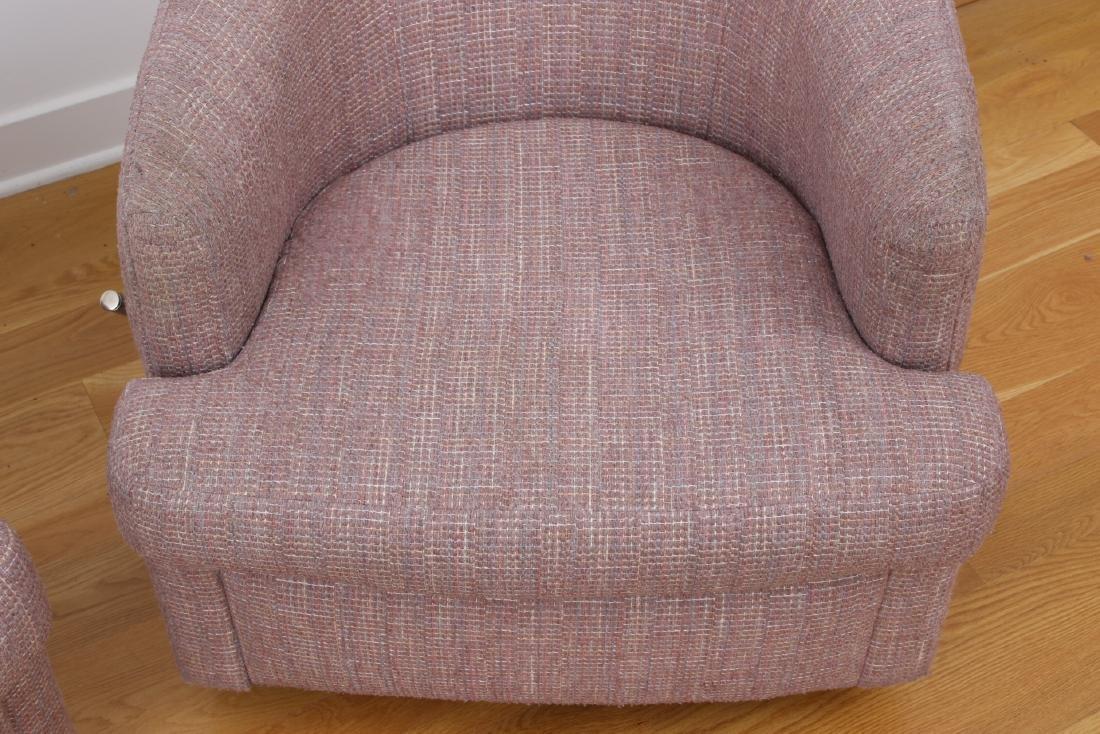 Pair Of Thayer Coggin Club Chairs - 3