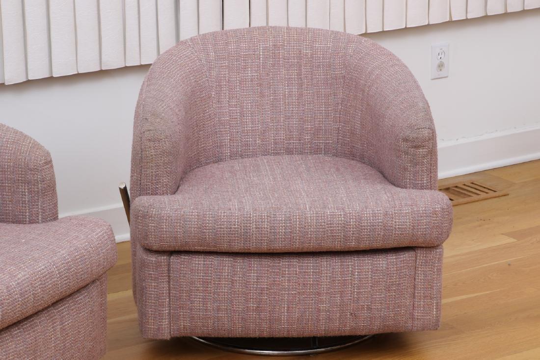 Pair Of Thayer Coggin Club Chairs - 4