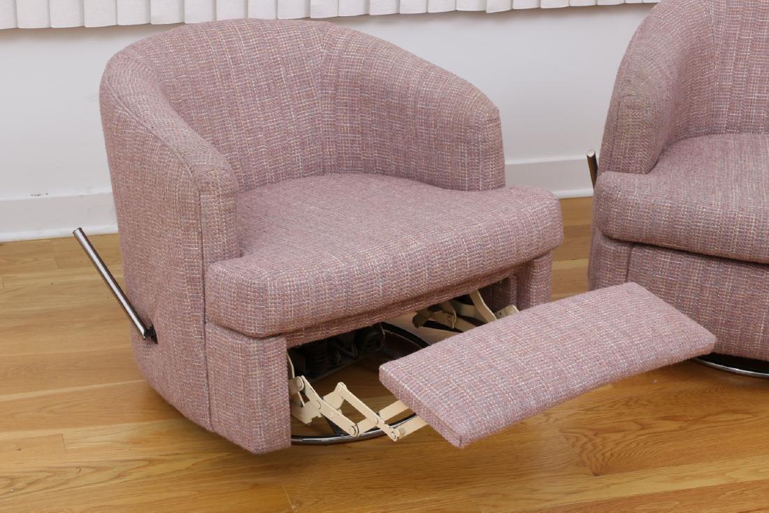 Pair Of Thayer Coggin Club Chairs - 7
