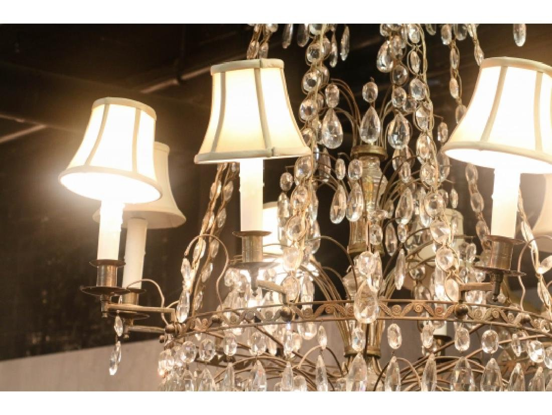 Antique Baltic Style Bronze And Crystal Chandelier - 10