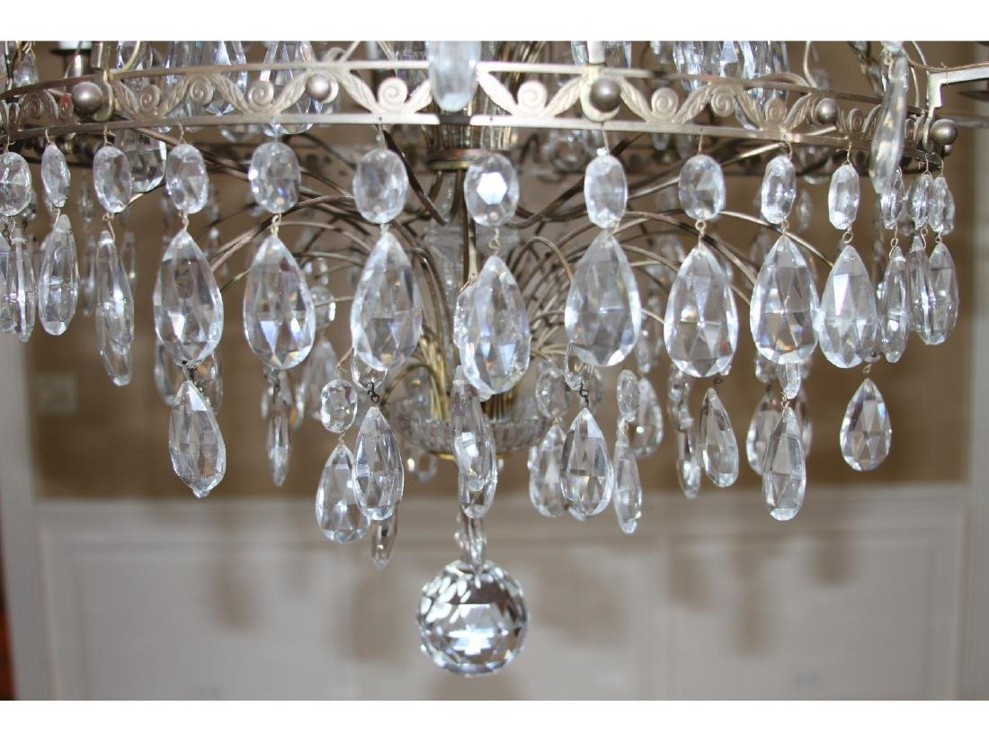 Antique Baltic Style Bronze And Crystal Chandelier - 4