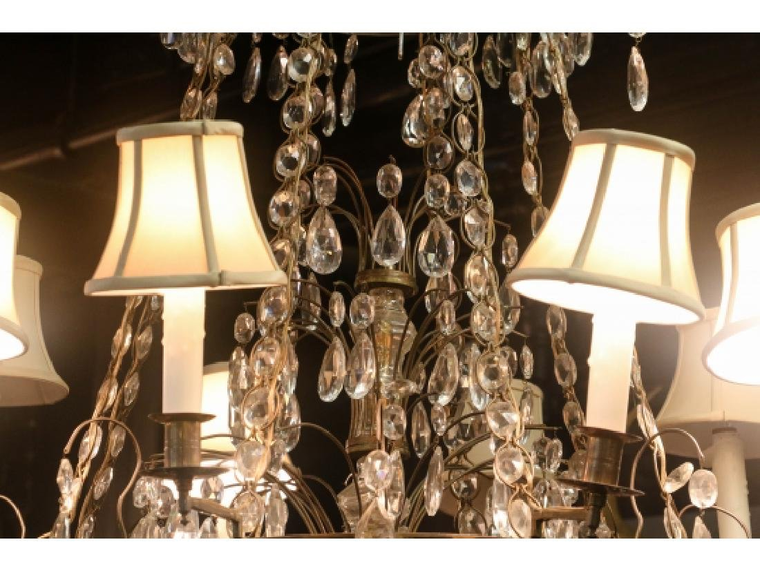 Antique Baltic Style Bronze And Crystal Chandelier - 6