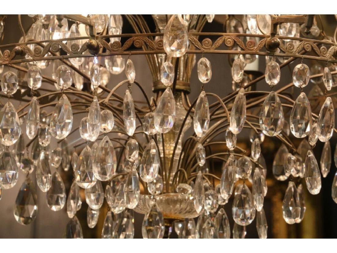 Antique Baltic Style Bronze And Crystal Chandelier - 7