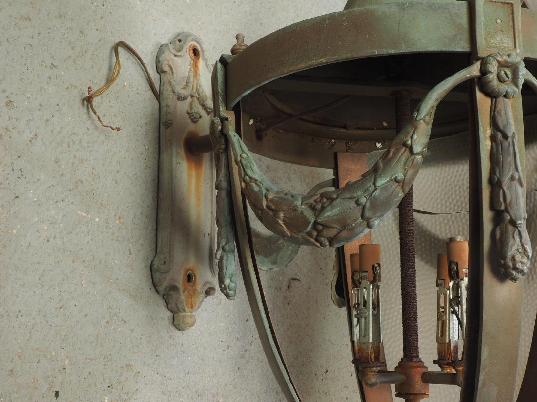 Pair Of Large Bronze Outdoor Lanterns - Restoration - 10