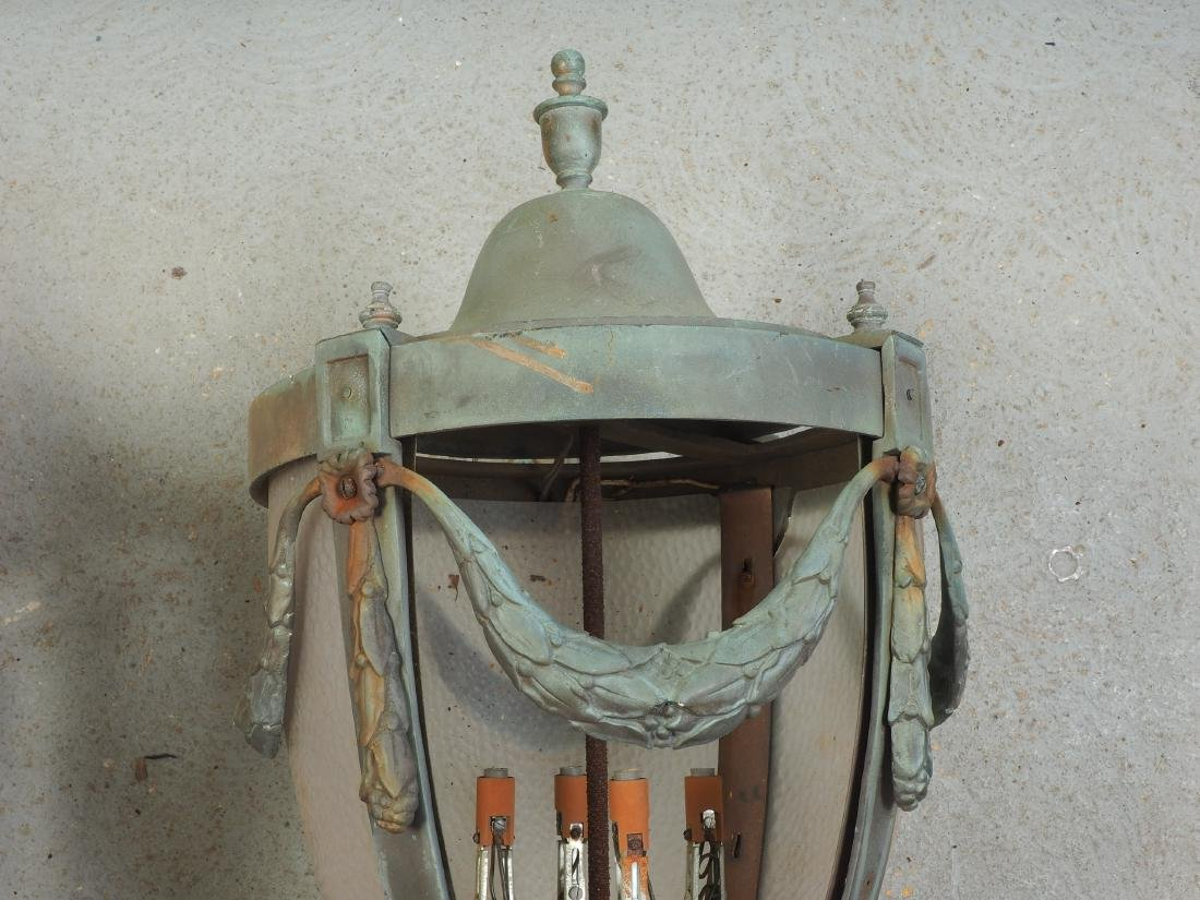 Pair Of Large Bronze Outdoor Lanterns - Restoration - 4