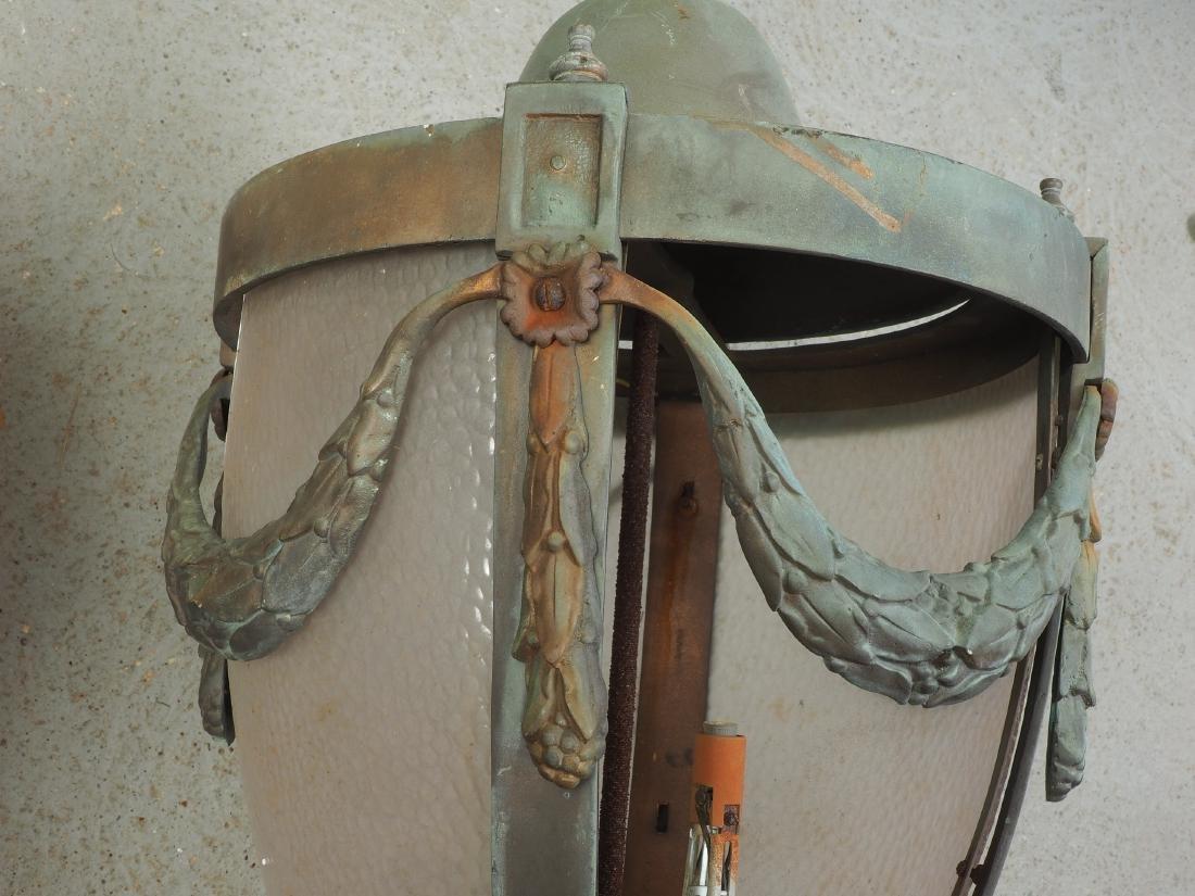 Pair Of Large Bronze Outdoor Lanterns - Restoration - 5